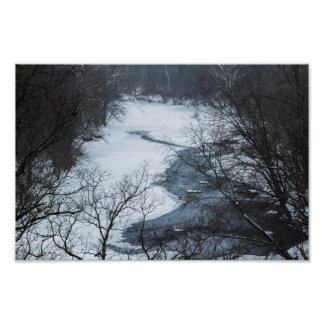 Darby Creek in winter, Ohio Poster