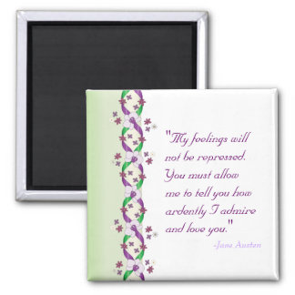 Darcy Wedding Square Magnet