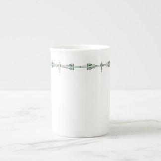 Dard Hunter Green Tea Cup