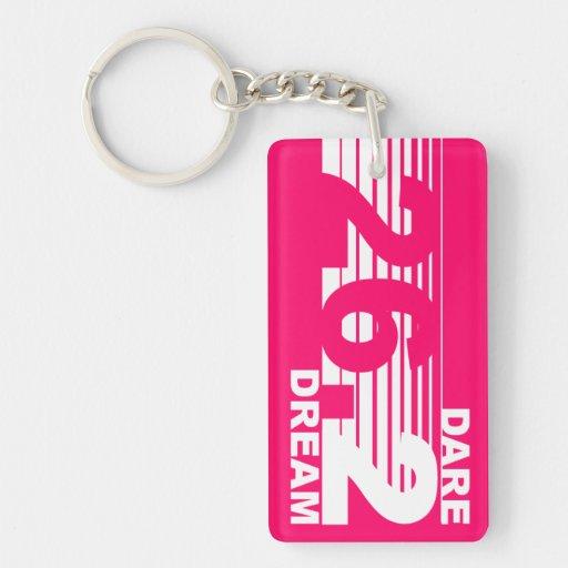 Dare 2 Dream - 26.2 Marathon Key Chain - Pink