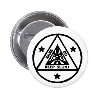 Dare. Do. Keep Silent! The Sorceror's Code! 6 Cm Round Badge