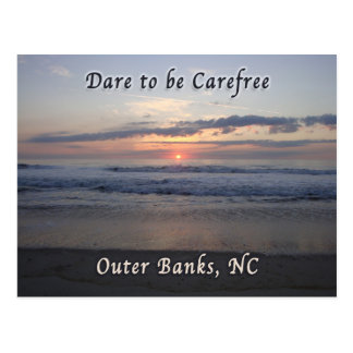 Dare to be Carefree Outer Banks NC Postcard