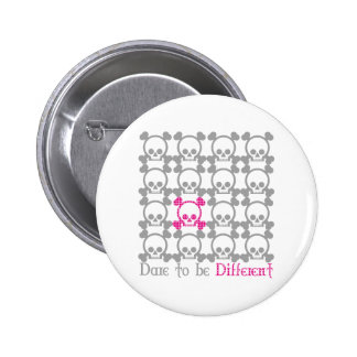 Dare to be different 6 cm round badge