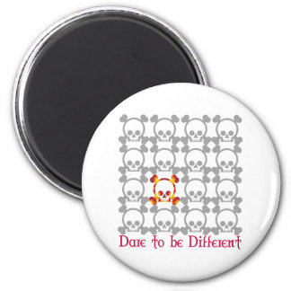 Dare to be different 6 cm round magnet