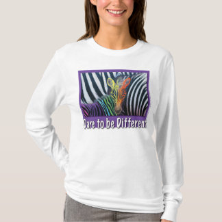 Dare to be Different, Baby Zebra Design by GG Burn T-Shirt