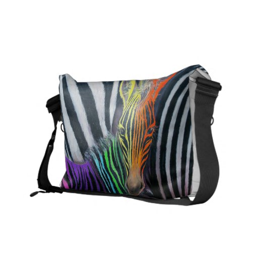 Dare to be different Baby Zebra Design by GG Burns Courier Bag