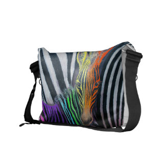 Dare to be different Baby Zebra Design by GG Burns Messenger Bags