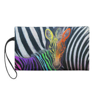 Dare to be different Baby Zebra Design by GG Burns Wristlet