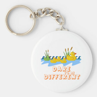 DARE TO BE DIFFERENT BASIC ROUND BUTTON KEY RING