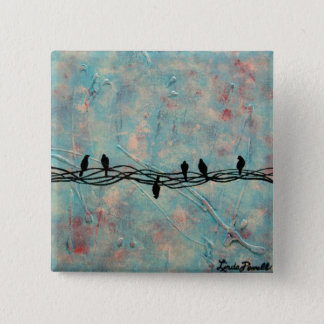 """""""Dare to be Different"""" by Linda Powell~Pin 15 Cm Square Badge"""