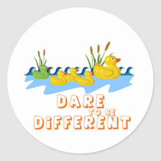 DARE TO BE DIFFERENT CLASSIC ROUND STICKER
