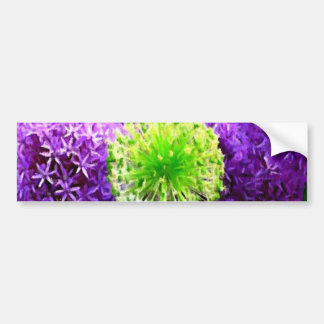 Dare to Be Different Lime Green Purple Flowers Bumper Sticker