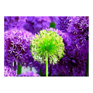 Dare to Be Different Lime Green Purple Flowers Pack Of Chubby Business Cards