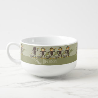 Dare to be different, monkeys, safari soup mug
