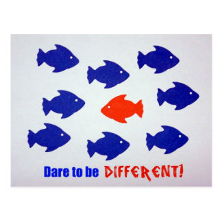 Dare to be different! postcard