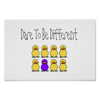 Dare To Be Different Poster