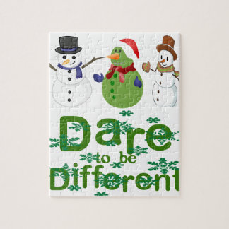 DARE TO BE DIFFERENT - SNOWMEN PUZZLE