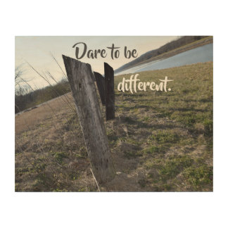 Dare To Be Different Wood Wall Art
