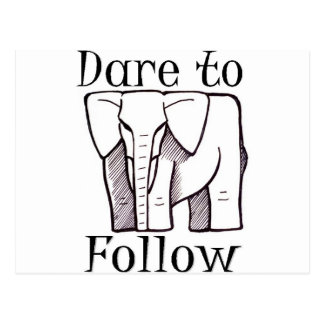DARE TO FOLLOW logo Post Cards