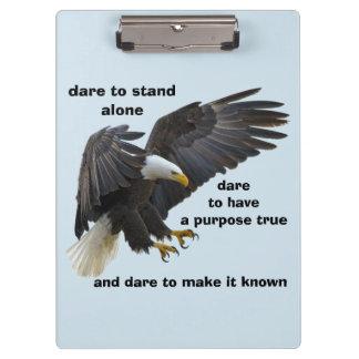 Dare to Stand Alone, American Bald Eagle Edition Clipboard