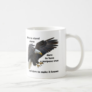 Dare to Stand Alone, American Bald Eagle Edition Coffee Mug