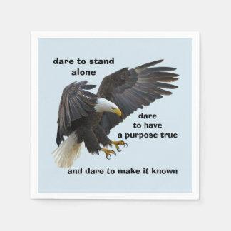 Dare to Stand Alone, American Bald Eagle Edition Disposable Napkin