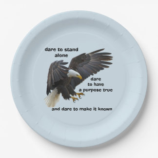 Dare to Stand Alone, American Bald Eagle Edition Paper Plate