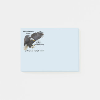 Dare to Stand Alone, American Bald Eagle Edition Post-it Notes