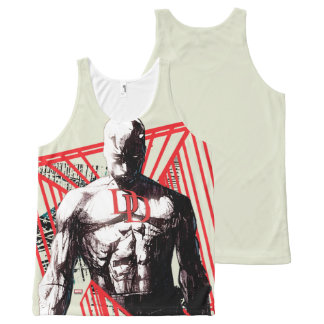 Daredevil Abstract Sketch All-Over Print Singlet