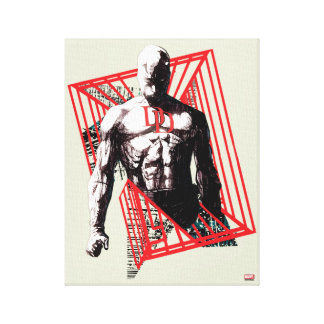 Daredevil Abstract Sketch Canvas Print
