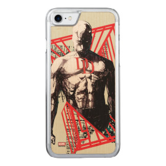 Daredevil Abstract Sketch Carved iPhone 8/7 Case