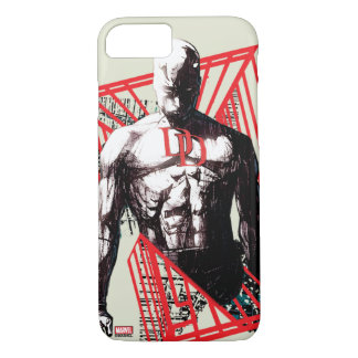 Daredevil Abstract Sketch iPhone 7 Case