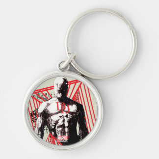 Daredevil Abstract Sketch Key Ring