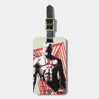 Daredevil Abstract Sketch Luggage Tag