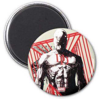Daredevil Abstract Sketch Magnet