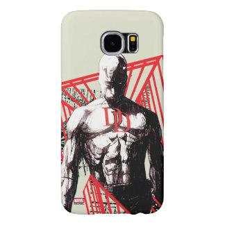 Daredevil Abstract Sketch Samsung Galaxy S6 Cases