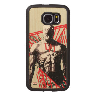 Daredevil Abstract Sketch Wood Phone Case