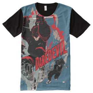 Daredevil Action Graphic All-Over Print T-Shirt