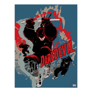 Daredevil Action Graphic Poster