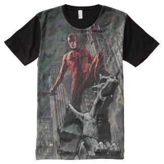 Daredevil Atop A Gargoyle All-Over Print T-Shirt