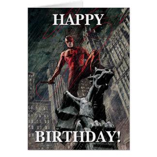 Daredevil Atop A Gargoyle Card