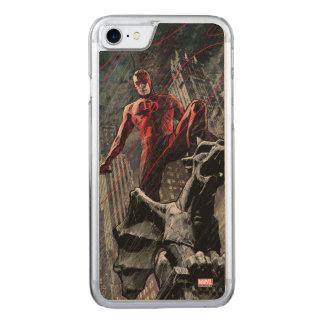 Daredevil Atop A Gargoyle Carved iPhone 8/7 Case
