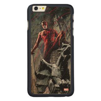 Daredevil Atop A Gargoyle Carved Maple iPhone 6 Plus Case