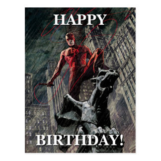 Daredevil Atop A Gargoyle Postcard