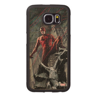 Daredevil Atop A Gargoyle Wood Phone Case