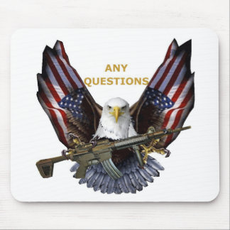 DAREDEVIL EAGLE PROTECTING AMERICA MOUSE PAD