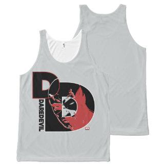 Daredevil Face In Logo All-Over Print Singlet