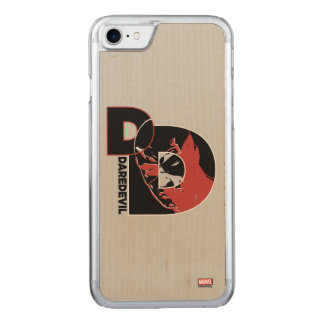 Daredevil Face In Logo Carved iPhone 7 Case