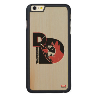 Daredevil Face In Logo Carved Maple iPhone 6 Plus Case