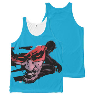 Daredevil Face Silhouette All-Over Print Singlet